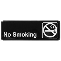 "Winco SGN-310 NO SMOKING Information Sign 3""x9"""