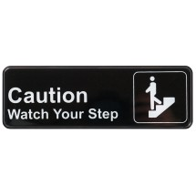 "Winco SGN-326 CAUTION/WATCH YOUR STEP Information Sign 3"" x 9"""