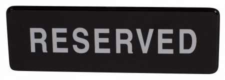 "Winco SGN-328 ""Reserved"" Information Sign 3"" x 9"""