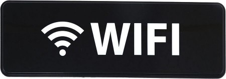"""Winco SGN-330 """"WiFi"""" Information Sign 3"""" x 9"""""""