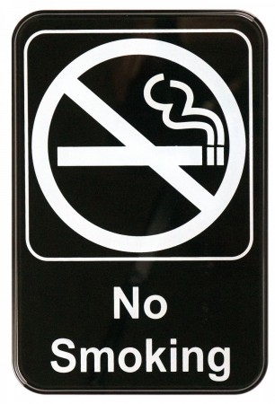 """Winco SGN-601 """"No Smoking"""" Information Sign 6"""" x 9"""""""