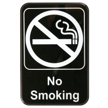 "Winco SGN-601 ""No Smoking"" Information Sign 6"" x 9"""