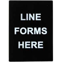 "Winco SGN-802 ""Line Forms Here"" Stanchion Sign"