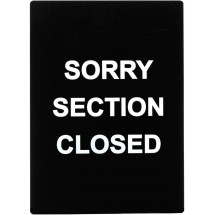 "Winco SGN-804 ""Sorry Section Closed"" Stanchion Sign"