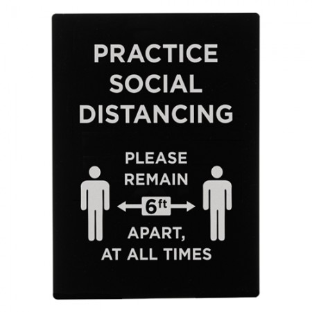 "Winco SGN-806 ""Practice Social Distancing"" Stanchion Sign"