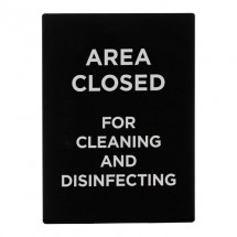 """Winco SGN-807 """"Area Closed for Cleaning and Disinfecting"""" Stanchion Sign"""