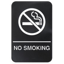 "Winco SGNB-601 ""No Smoking Area"" Braille Information Sign, 6"" x 9"""