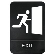 "Winco SGNB-6 ""Exit"" Braille Information Sign, 6"" x 9"""