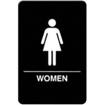 "Winco SGNB-606 ""Women"" Braille Information Sign, 6"" x 9"""