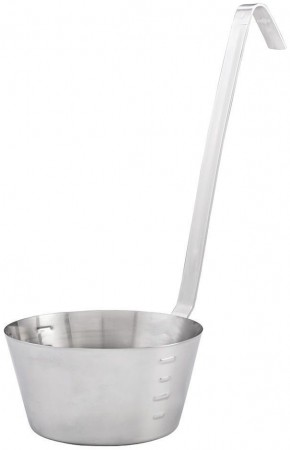 Winco SHHD-1 Stainless Steel Hooked Handle Dipper 1 Qt.