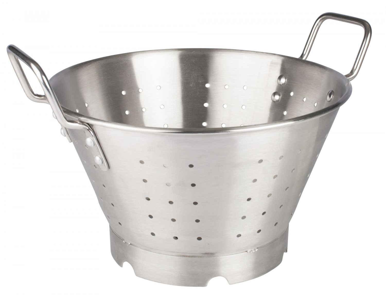 Winco SLO-11 Heavy Duty Stainless Steel Colander 11 Qt.