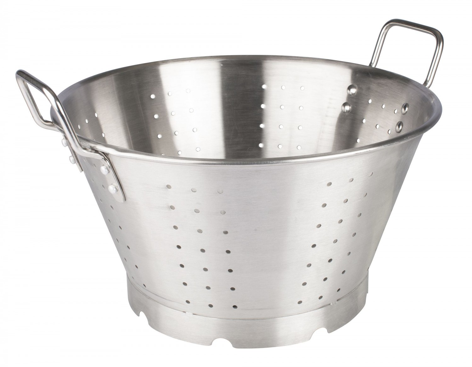 Winco SLO-16 Heavy Duty Stainless Steel Colander 16 Qt.