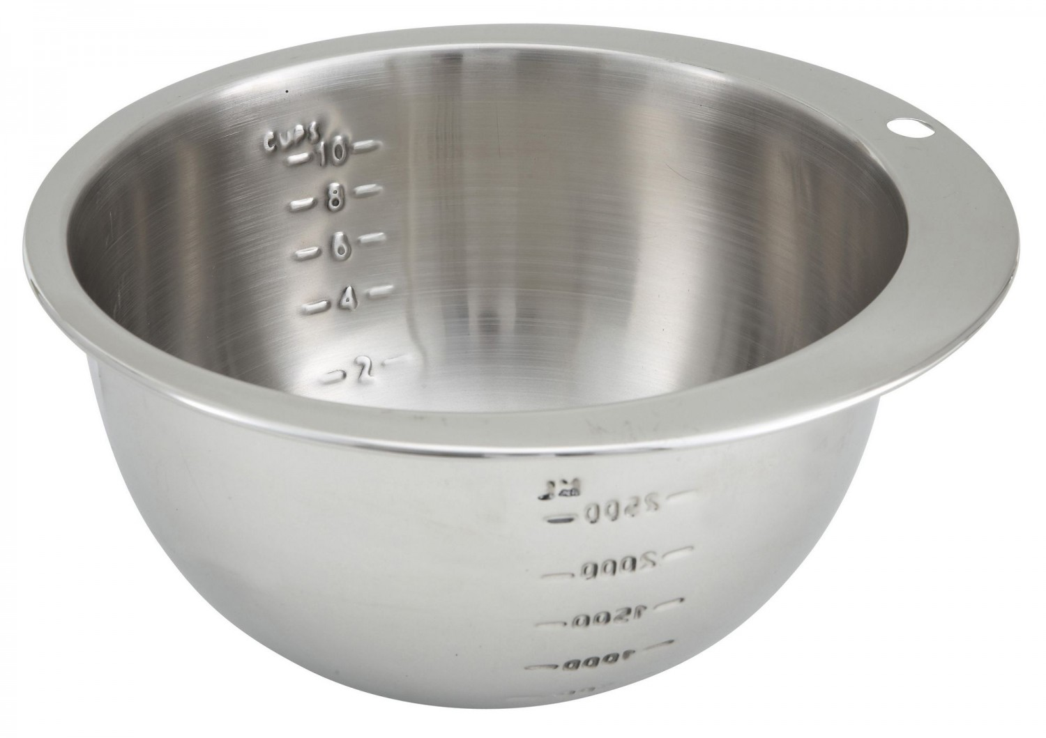Winco SMB-10 Stainless Steel Measuring Bowl 10 Cup