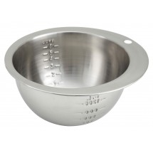 Winco SMB-6 Stainless Steel Measuring Bowl 6 Cup
