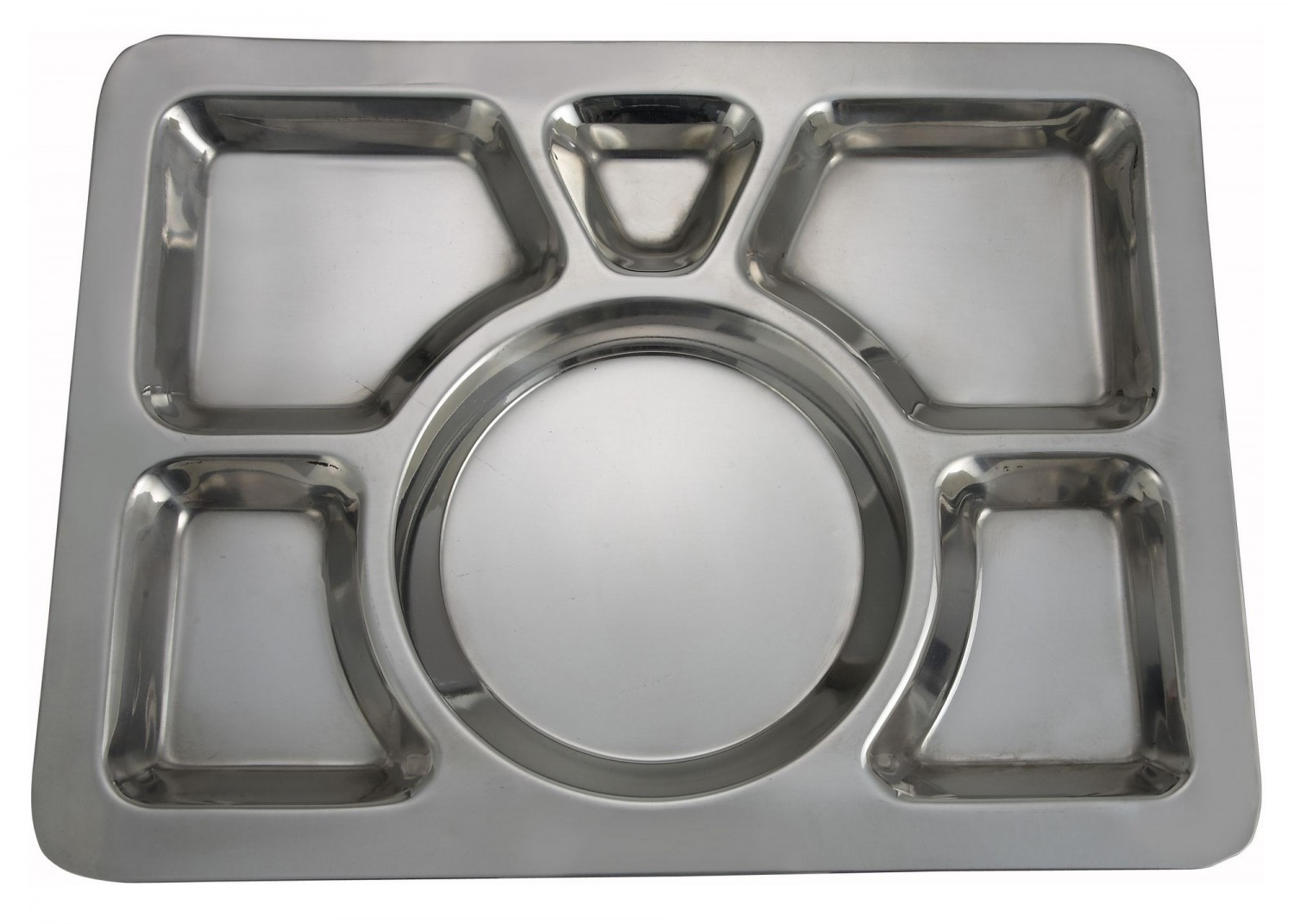 Winco SMT-1 6-Compartment Mess Tray - Style A