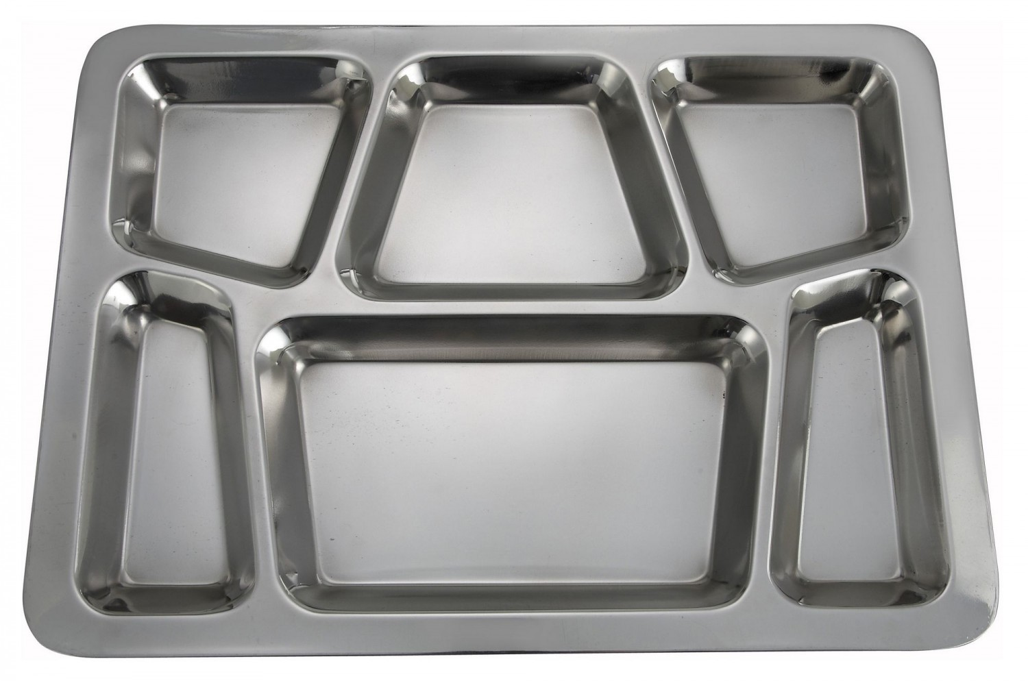 Winco SMT-2 6-Compartment Mess Tray, Style B
