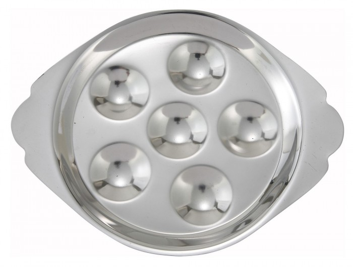 sc 1 st  TigerChef & Winco SND-6 Stainless Steel 6-Hole Snail Dish