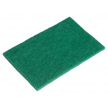 "Winco SP-96N Green Scouring Pad 6"" x 9-3/8"" - 10 Pieces"