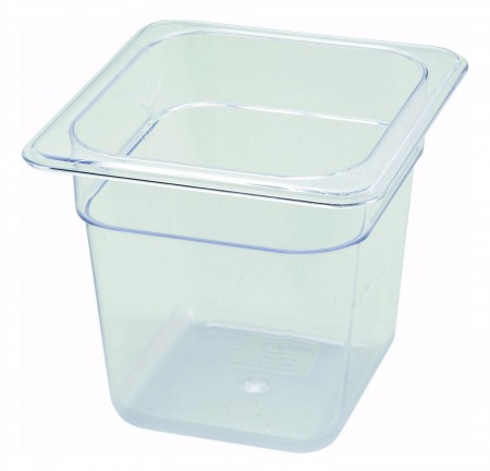 """Winco SP7606 1/6 Size Food Pan 5-1/2"""""""