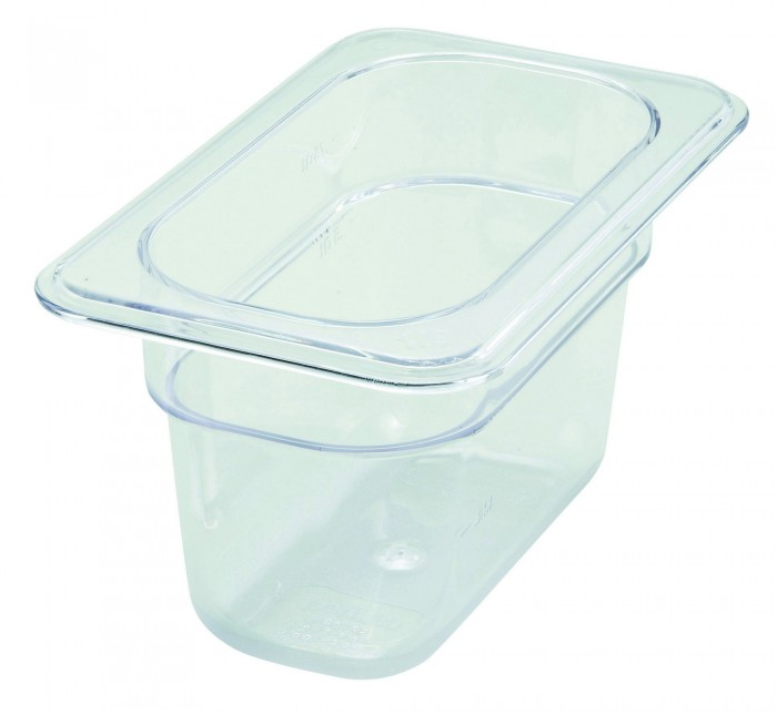 Winco SP7404 1//4 Size Pan 4-Inch