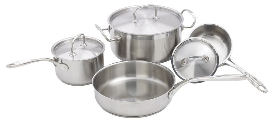 Winco SPC-7H Stainless Steel Cookware 7-Piece Set