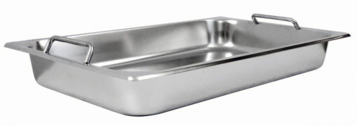 Winco SPF2-HD Get-A-Grip Full Size Steam Pan with Handles for C-2080B