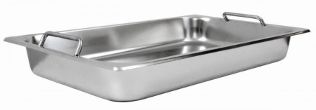 Winco SPF2-HD Get-A-Grip Stainless Steel Food Pan with Handles for C-2080B