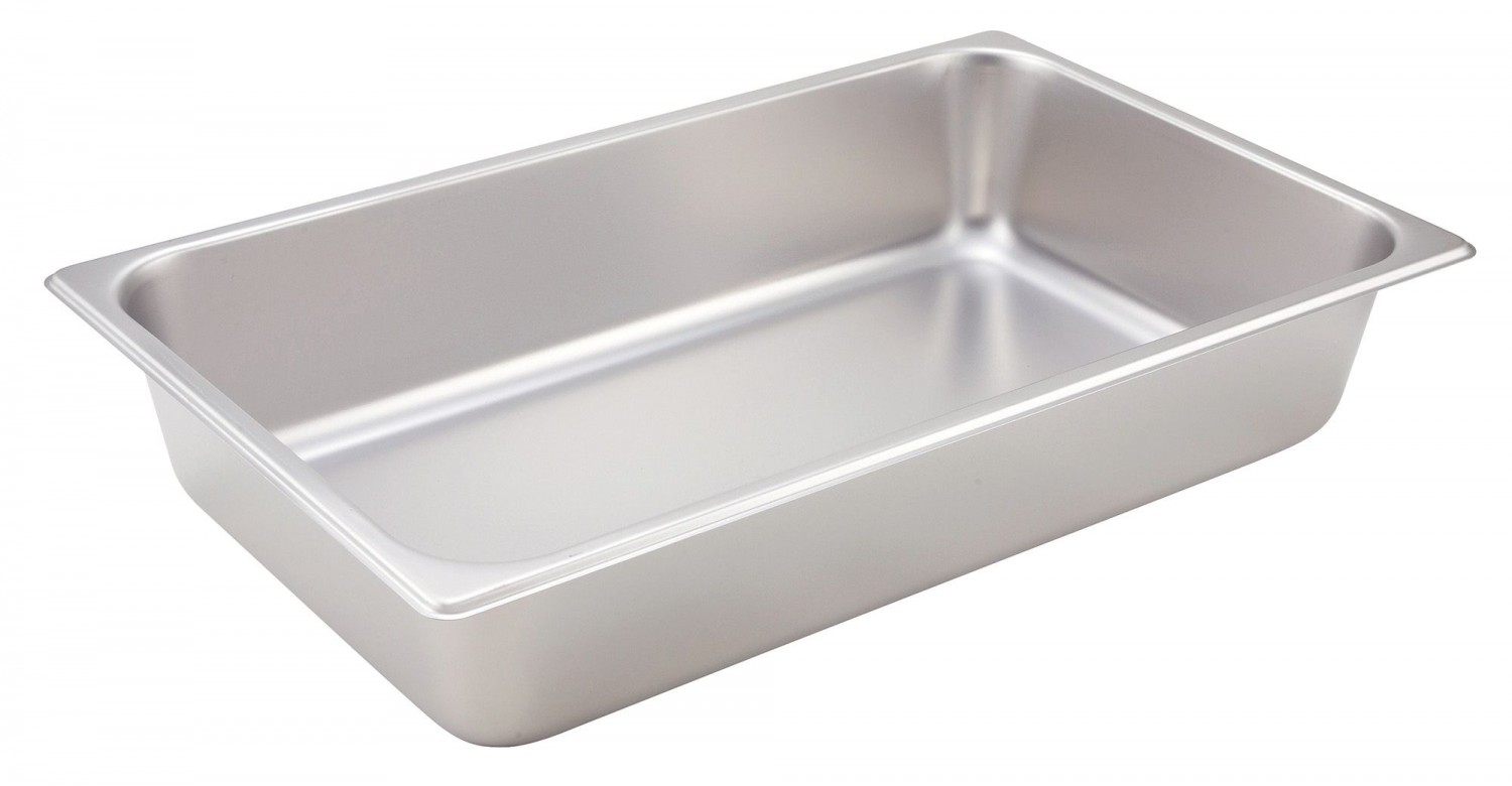 "Winco SPF4 Full Size Steam Pan 4"" Deep"