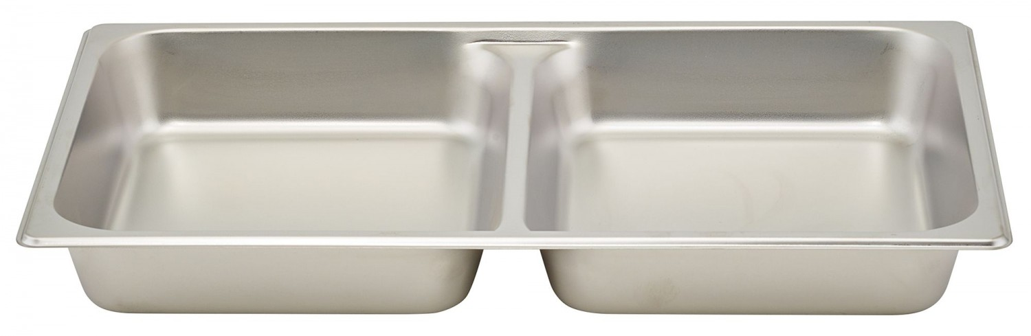 """Winco SPFD2 Full Size Divided Steam Table Pan 2-1/2"""" Deep"""