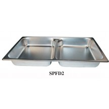 "Winco SPFD2 Full Size Divided Steam Table Pan 2-1/2"" Deep"