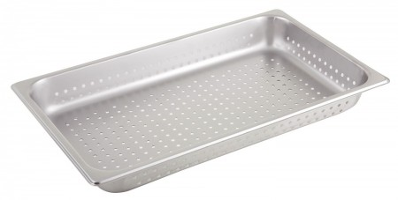 """Winco SPFP2 Full Size Perforated Steam Pan 2-1/2"""""""