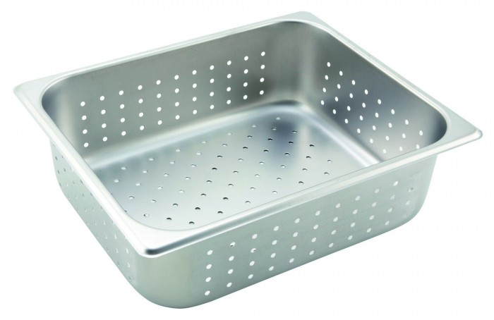 SPFP4 Winco Full Size 4 in Deep Perforated Steam Table Pan