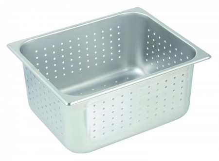 """Winco SPHP6 Perforated Half Size Table Pan 6"""""""
