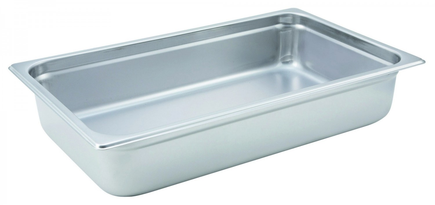 "Winco SPJH-104 Full Size Steam Table Pan 4"" Deep"