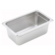 "Winco SPJH-404 Quarter Size Steam Pan 4"" Deep"