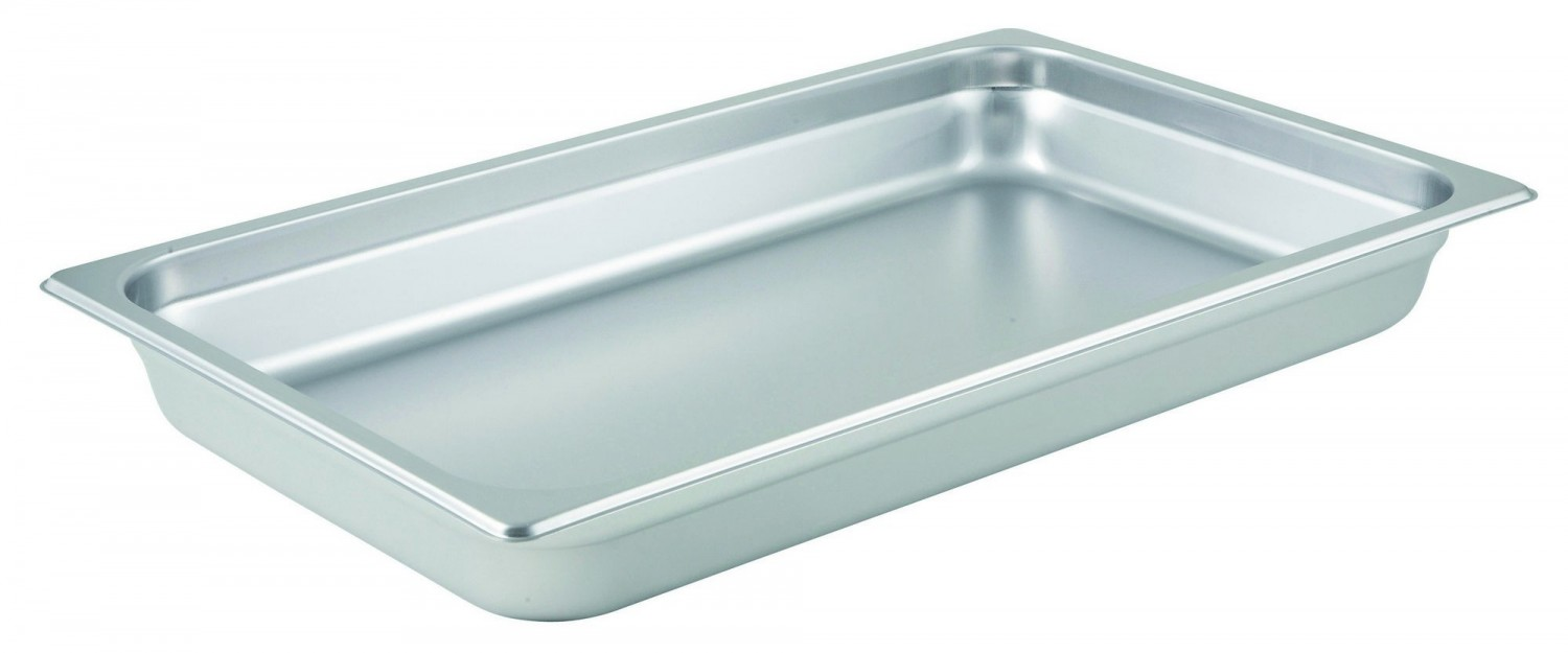 """Winco SPJM-102 Full Size Stainless Steel Steam Table Pan 2-1/2"""" Deep"""