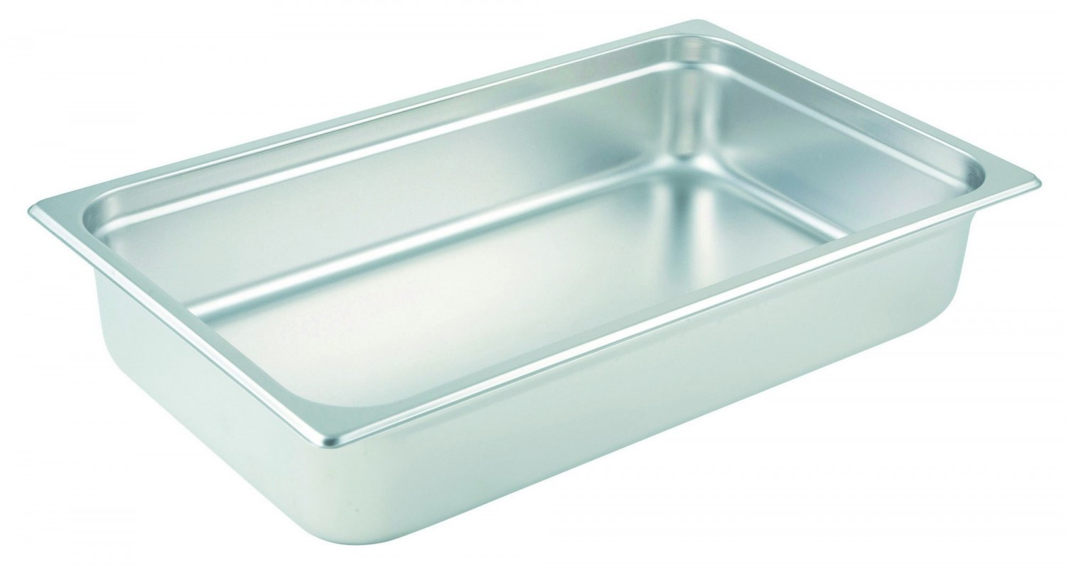 "Winco SPJM-104 Full Size Stainless Steel Steam Table Pan 4"" Deep"