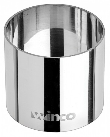 """Winco SPM-21R Round Stainless Steel Pastry Mold 2"""" x 1-3/4"""""""