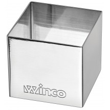 "Winco SPM-22S Square Stainless Steel Pastry Mold 2"" x 2"""