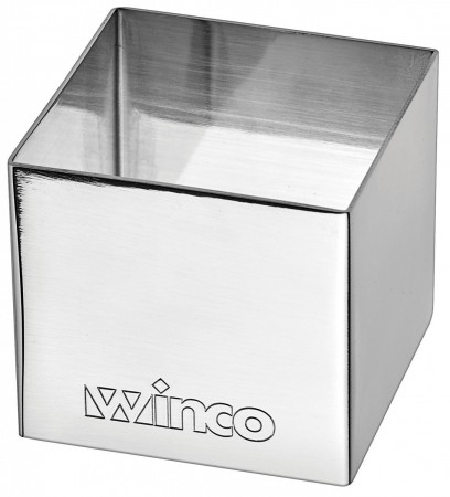 """Winco SPM-22S Square Stainless Steel Pastry Mold 2"""" x 2"""""""