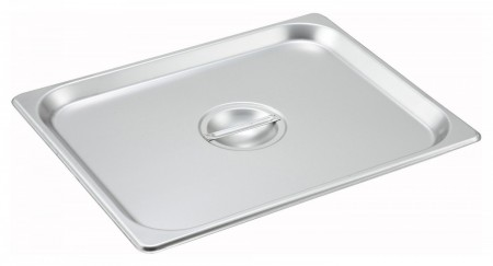 Winco SPSCH 1/2 Size Solid Cover for Steam Table Pan