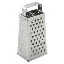 Winco SQG-1 Stainless Steel Tapered Grater with Handle