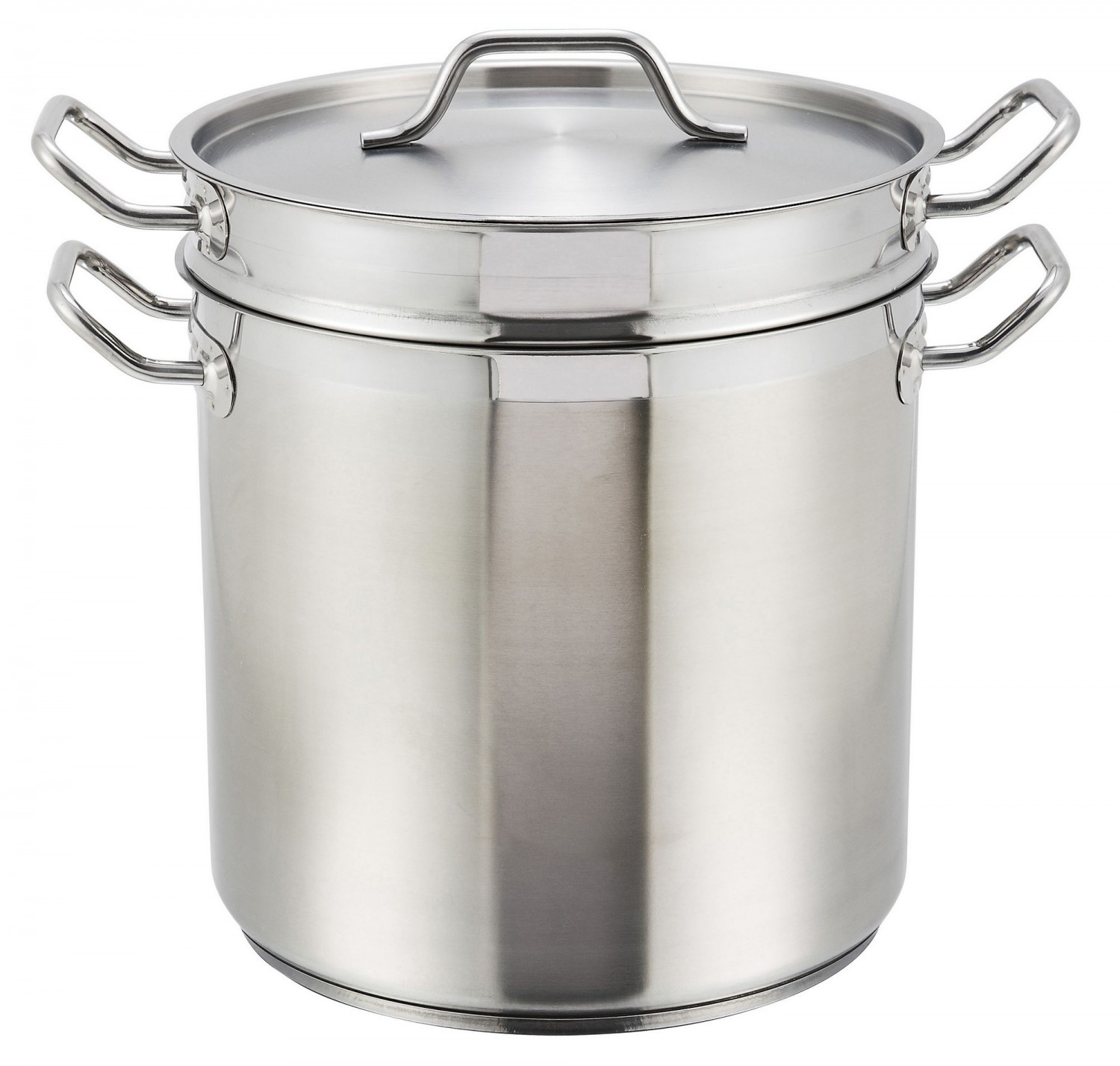 Winco SSDB-12S Premium Stainless Steel Steamer / Pasta Cooker with Cover 12 Qt.