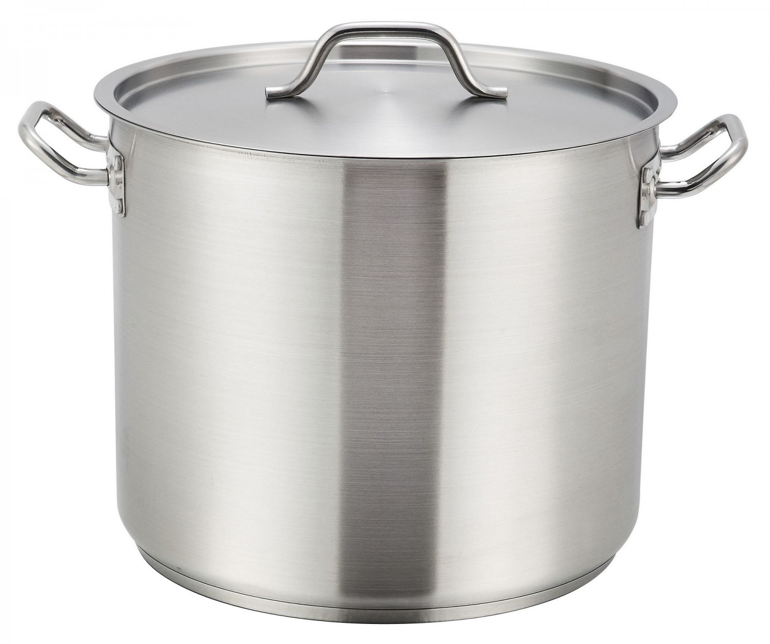 Winco SST-24 Stainless Steel Stock Pot with Cover 24 Qt.