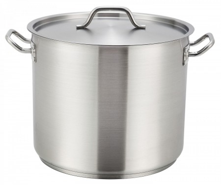 Winco SST-32 Stainless Steel Induction Stock Pot 32 Qt.