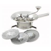 Winco SVM-9 Stainless Steel Food Mill with 3 Graters 2 Qt.