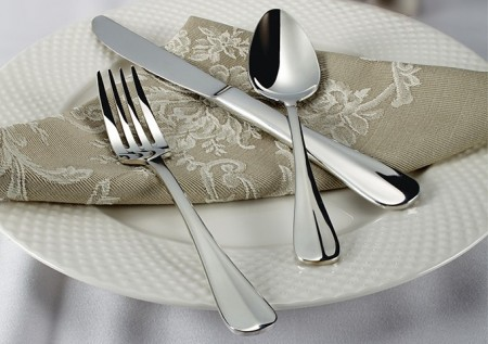 Winco Stanford 5-Piece Extra Heavy Weight Flatware Set - Service for 12