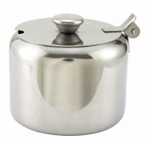 Winco T-710 Stainless Steel Sugar Can with Notched Cover 10 oz.