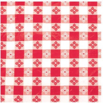 "Winco TBCO-70R Red Oblong Table Cloth 52"" x 70"""