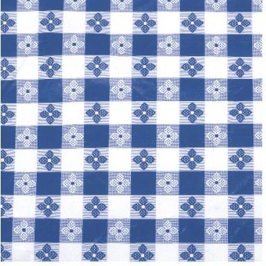 "Winco TBCO-90B Blue Oblong Table Cloth 52"" x 90"""